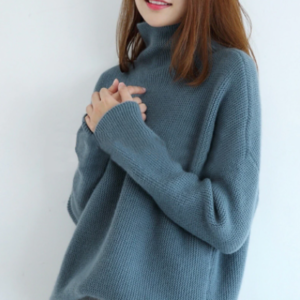 Cashmere Wool Jumpers Blue