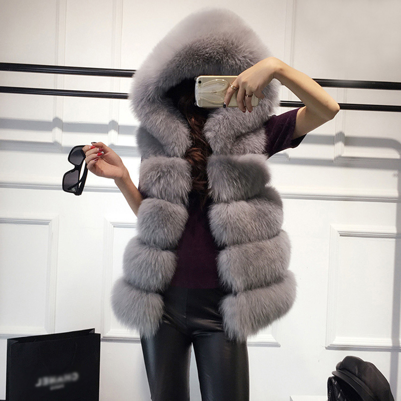 Gray Zadorin Vest With Hoodie on Exquisite Furs