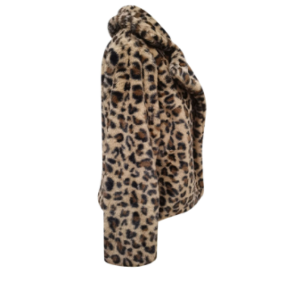 Leopard Print Fur Coat Side View