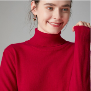 Mena-sheep Turtleneck Cashmere Sweaters Red