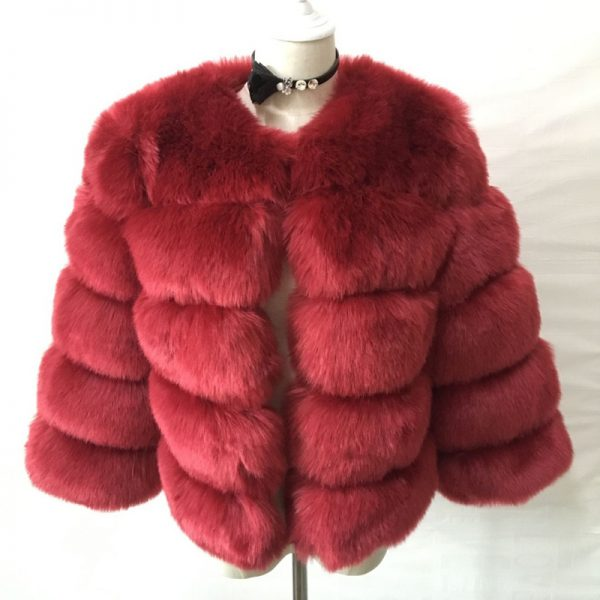 Red Zadorin Winter Fur Coat