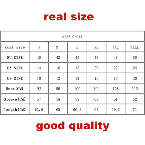 Fur Coat Size Chart - Exquisite Furs