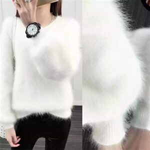 White Lantern Sleeve Cashmere