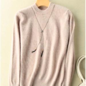 Pure Mink Cashmere Sweaters Beige