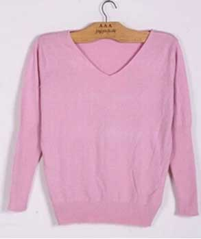 Pink Cashmere Sweater- Women's