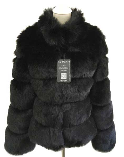Women's black Fur coat