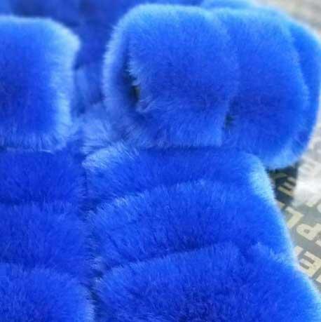 Women's Blue Fur Coat