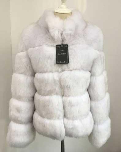 White Women's Faux Fur Coat