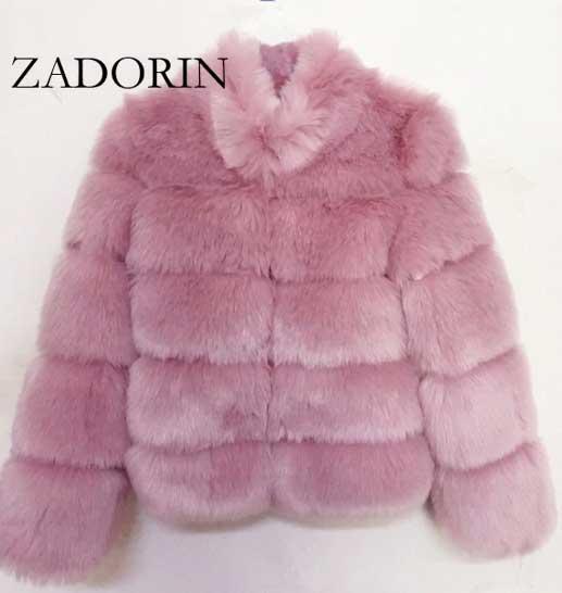 Pink Fur Coat -Women's
