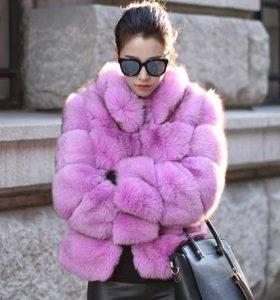 Stylish Purple Zadorin Women's Fur Coat