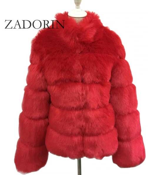 Women's Red Fur Coat