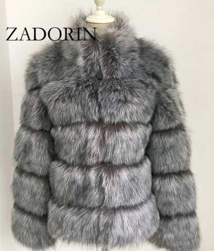 ZADORIN Winter Coat -faux Fox