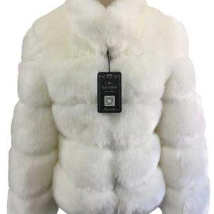 White Faux Fur Winter Coat