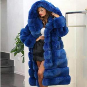 Beautiful Warm Fur Coat Blue