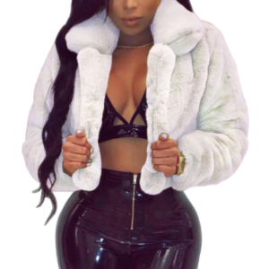 Short Fur Coat White